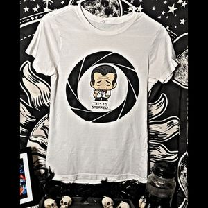 Loot Crate B&W Cute Disappointed 007 Shirt Size M